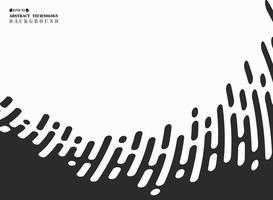 Abstrakte schwarze Streifenlinie Technologie gewellt auf weißem Hintergrund. Abbildung Vektor eps10
