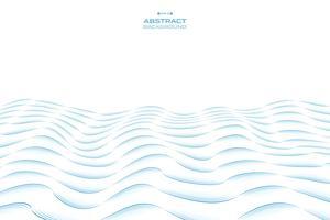 Abstrakte Linie gewelltes Musterdesign des blauen Himmels des Seehintergrundes. Abbildung Vektor eps10