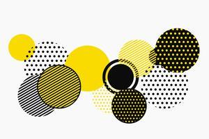 Abstraktes schwarzes und gelbes geometrisches Formmuster-Vektordesign. Abbildung Vektor eps10