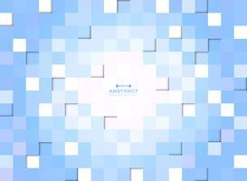Abstrakt av blå gradient pixel kvadrat mönster bakgrund. vektor