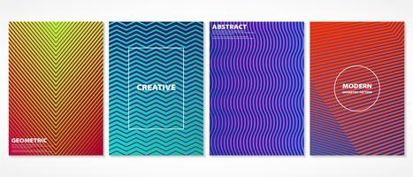 Abstraktes buntes minimales geometrisches Abdeckungsmusterdesign.