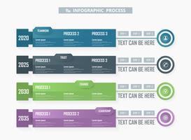 Infographic Prozesshintergrund des bunten Geschäfts.