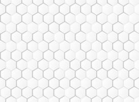 Abstrakt gradient vitt och grått hexagonalt geometriskt mönster pappersskuren bakgrund. illustration vektor eps10