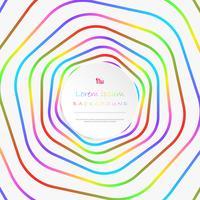 Abstrakt färgrik rand linje mönster cirkel bakgrund med kopia utrymme. vektor