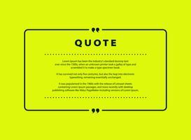 Abstrakt grön citat vektor design för taltext kopia mall design. vektor eps10
