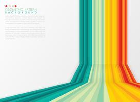Abstrakte Sommerstreifenlinie buntes Muster des Perspektivenabdeckungshintergrundes. vektor