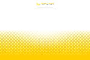 Abstrakt gul färg halvton minimal geometrisk mönster torg dekoration bakgrund. illustration vektor eps10