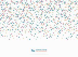 Abstrakter korporativer bunter Ton des geometrischen Dekorationsmusterkunst-Abdeckungshintergrundes des quadratischen Kastenpixels. Abbildung Vektor eps10