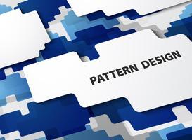 Abstrakt modernt mönster av gradient blå bakgrund. vektor