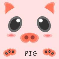 Abstrakt ritning djur gris bild 2d design.