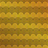 Gelbes und schwarzes Muster des abstrakten Luxussenfs des Kreismusterhintergrundes. Sie können für Werbung, Druck, Cover-Design verwenden.