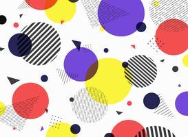 Abstrakt mönster geometrisk enkel färgstark formdesign. vektor