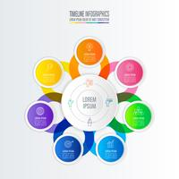infografisk design affärsidé med 7 alternativ. vektor