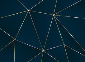 Abstraktes fünfeckiges Muster mit goldener Linie Luxusmuster.