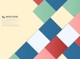 Abstrakter bunter Papierschnittdesign-Musterhintergrund. Abbildung Vektor eps10