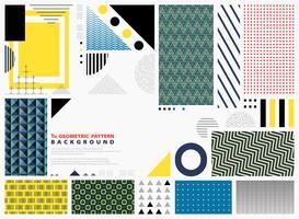 Abstrakt geometriska mönster färgstarka bakgrund kopia utrymme. Modern design av former som dekorerar för presentation. Du kan använda för konstverk, modedesign av element, papper, tryck.
