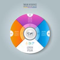 Tidslinje infografisk affärsidé med 3 alternativ.
