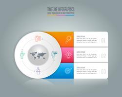 Infographik Design Geschäftskonzept mit 3 Optionen.