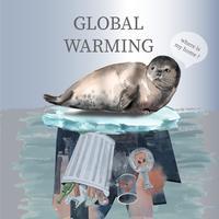 Global värme och förorening. Social media reklamkampanj, rädda världen mall design, kreativ vattenfärg vektor illustration design