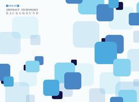 Abstrakter einfacher blauer quadratischer geometrischer Musterabdeckungshintergrund. vektor