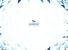 Maschenmuster des geometrischen Hintergrundes des blauen Dreiecks.