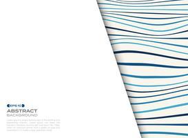 Abstrakte Abdeckung des blauen gewellten Musters mit freiem Raum des Texthintergrundes. vektor
