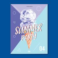 Resor på semester sommar stranden Palm tree semester, hav och himmel sol, kreativ vattenfärg vektor illustration design