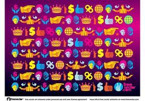 Donald Trump Wallpaper Muster vektor