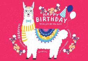 Grattis på födelsedagen Djur Vol 3 Vector