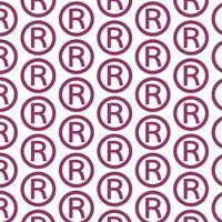 Muster Hintergrund Registrierte Warenzeichen-Symbol vektor