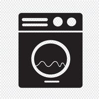 Waschmaschine-Symbol vektor
