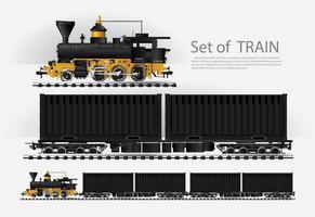 Güterzug auf einer Eisenbahn Vektorillustration vektor