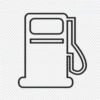 Gaspumpikon, oljestationikonen vektor