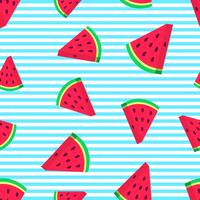 Vattenmelon skivor vektor sömlösa mönster