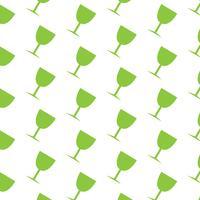 Glas dricka mönster bakgrund vektor