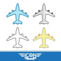 Flugzeug Symbol Symbol Zeichen vektor