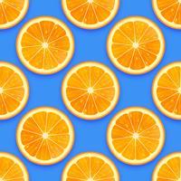 Färska Orange Seamless Pattern Vector Background