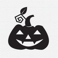 Halloween Kürbis-Symbol vektor