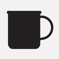 kopp te kaffe ikon
