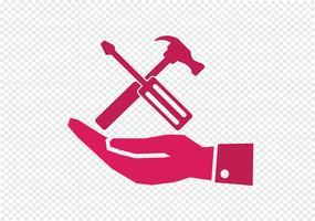 Hand und Werkzeuge Hammer-Symbol