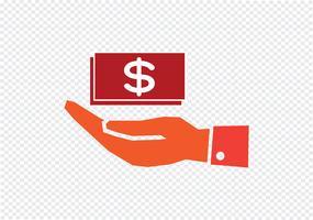 hand dollar ikon