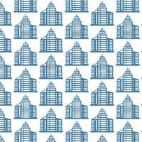 Muster Hintergrund Bürogebäude-Symbol vektor