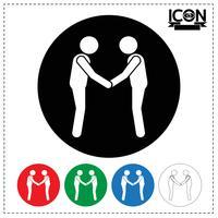 Menschen Handshake-Symbol vektor