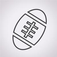 American Football-Ball-Symbol