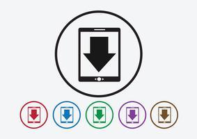 Download-Symbol und Upload-Symbol