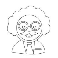 Forskare eller professor ikon vektor