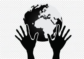 Hand Holding World och Globe Hands Hands