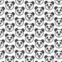 Panda-Hintergrundmuster vektor