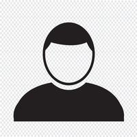 Personen-Benutzer-Symbol vektor