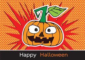 Halloween-Karte mit Kürbis